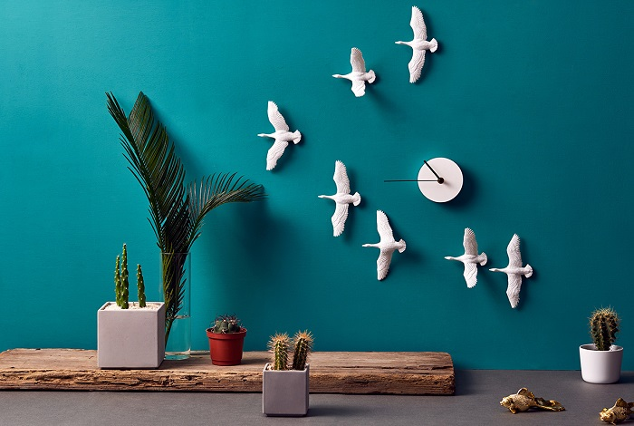 Place Furniture flying birds wall clock