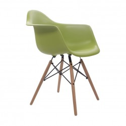 Place furniture Replica Eames Charles DAW Dining Chair green