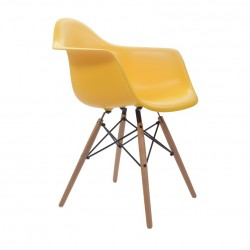 Place furniture Replica Eames Charles DAW Dining Chair yellow