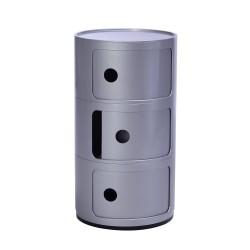 Replica Componibili Storage Unit 3 door grey silver
