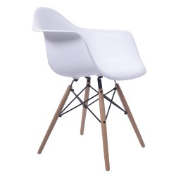 Replica Eames Charles DAW Dining Chair white