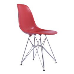 Replica Eames DSR Dining Chair red