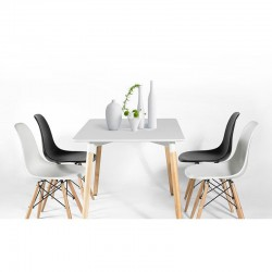 Replica Eames DSW Dining Chair set of 4 four and Dix Dining Table