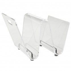 Crystal Wave Magazine Rack transparent clear