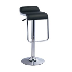 LexMod LEM Piston Bar Stool black