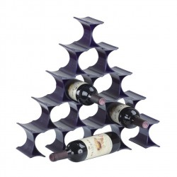 Place Furniture Triangle Standing Wine Rack Black