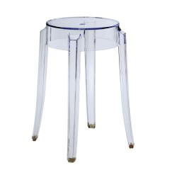 REPLICA PHILIPPE STARCK CHARLES GHOST STOOL 46cm transparent clear