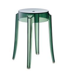 REPLICA PHILIPPE STARCK CHARLES GHOST STOOL 46cm transparent green