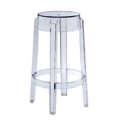 REPLICA PHILIPPE STARCK CHARLES GHOST STOOL 65cm transparent clear