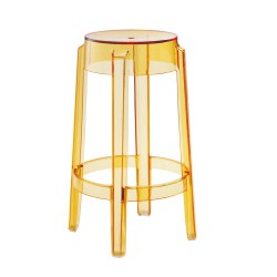 REPLICA PHILIPPE STARCK CHARLES GHOST STOOL 65cm transparent yellow