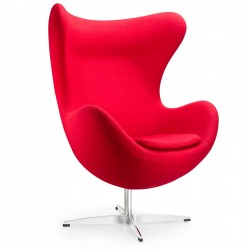 Replica Arne Jacobsen Egg chair red (2)1 - Place Furniture