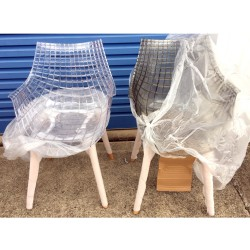 Replica Christophe Pillet Meridiana Side Chair clear and smoke