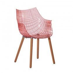 Replica Christophe Pillet Meridiana Side Chair transparent red 1