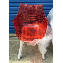 Replica Christophe Pillet Meridiana Side Chair transparent red