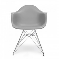 Replica Eames DAR Dining Chair steel leg Gray