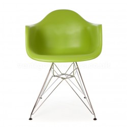 Replica Eames DAR Dining Chair steel leg green