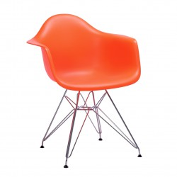 Replica Eames DAR Dining Chair steel leg orange