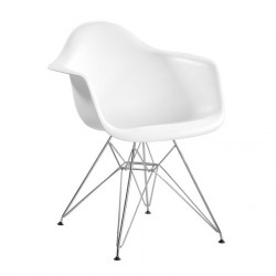 Replica Eames DAR Dining Chair steel leg white