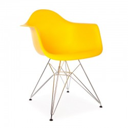 Replica Eames DAR Dining Chair steel leg yellow