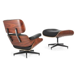 Replica Eames Lounge Chair with Ottoman black (2) - Place Furniture