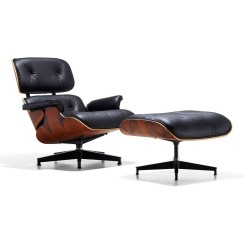 Replica Eames Lounge Chair with Ottoman black (3) - Place Furniture
