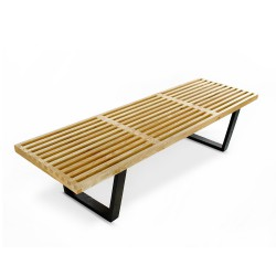 Replica George Nelson Platform Bench - 152cm natural 4
