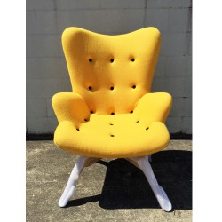 Replica Grant Featherston Contour Chair with Ottoman yellow 05