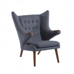 Replica Hans Wegner PP19 Papa Bear Chair with Ottoman 1