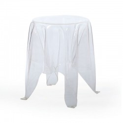 Replica John Brauer Illusion Side Table black clear transparent