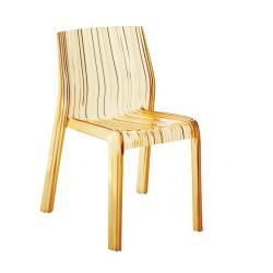 Replica Patricia Urquiola Frilly Chair transparent yellow