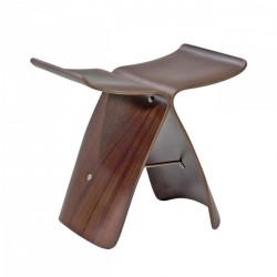 Replica Sori Yanagi Butterfly Stool walnut (2)