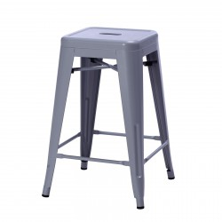 Replica Xavier Pauchard Tolix Stool 65cm grey powder coating