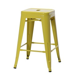Replica Xavier Pauchard Tolix Stool 65cm yellow powder coating