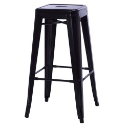 Replica Pauchard Tolix Stool 75 cm black
