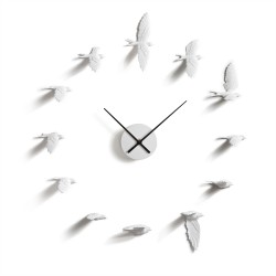 Flying Birds Clock - Swallows white