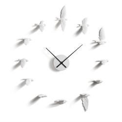 Flying Birds Clock - Swallows white