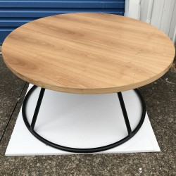 Industrial Round Coffee Table actual