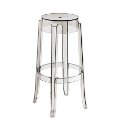 REPLICA PHILIPPE STARCK CHARLES GHOST STOOL 75cm transparent smoke
