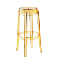 REPLICA PHILIPPE STARCK CHARLES GHOST STOOL 75cm transparent yellow