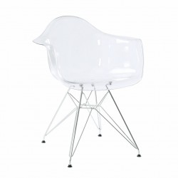 Replica Eames DAR Dining Chair transparent clear
