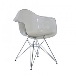 Replica Eames DAR Dining Chair transparent smoke