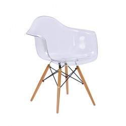 Replica Eames DAW Dining Chair transparent clear
