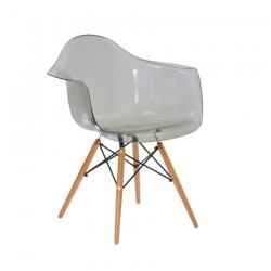 Replica Eames DAW Dining Chair transparent smoke