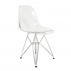 Replica Eames DSR dining chair transparent 2