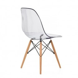 Replica Eames DSW Dining Chair transparent 2 place furniture