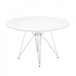 Replica Eames Eiffel Dining Table 120cm WHITE top