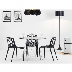 Replica Eames Eiffel Dining Table black