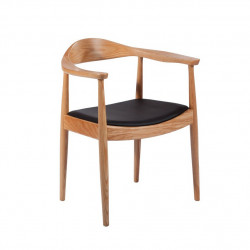 Replica Hans Wegner Round Dining Chair natural 1