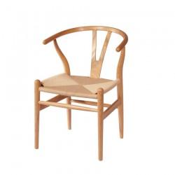 Replica Hans Wegner Wishbone Chair natural wood natural ratten