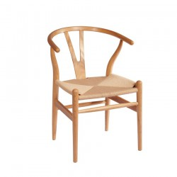 Replica Hans Wegner Wishbone Chair natural wood natural ratten
